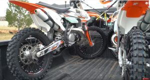 2 Motorbikes on a Truck For Competition