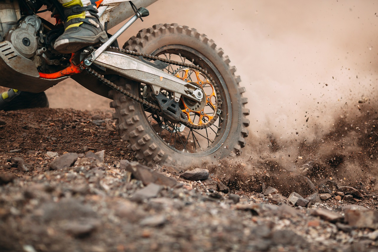 motorcycle and dirt